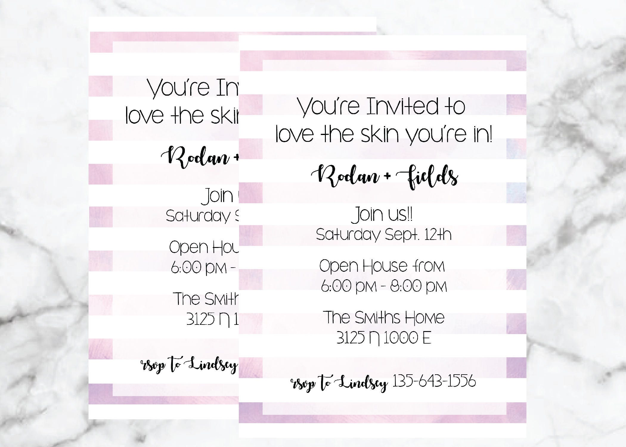 Direct Sales Home Party Business Invitation Rodan Fields