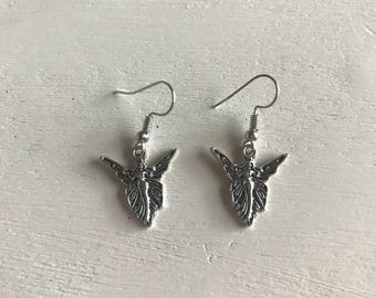 Fairy faerie drop earrings angle