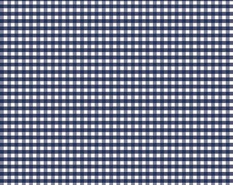 "SALE Navy Blue 1/8"" Gingham Fabric from Riley Blake Designs - listing for 1 Yard -FM"