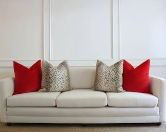 Antelope Linen Print // Ebony Pillow COVER ONLY