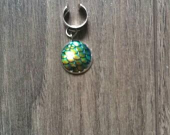 Mermaid dreadlock bead cuff