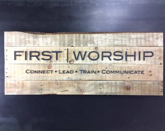 Custom Metal Pallet Sign