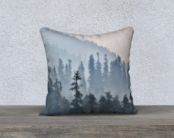 """Trees and Smoke Photographic Pillow (18"""" x 18"""" and 22"""" x 22"""")"""