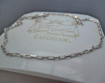 """Vintage silver bracelet - 925 - sterling silver - 10"""" - Large bracelet - Marked 925"""