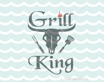 Grill King SVG File. Cricut Explore & more. Hot Like My Grill King Grill Master Happy Father's Day Dad Father's Day Dad Father SVG