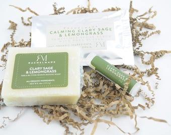 Mini Gift Set with soap, body scrub & lip balm