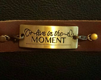 Live in the Moment cuff bracelet