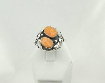 """Hallmarked """"TT"""" Spiny Oyster Sterling Silver Ring #TT-SR6"""