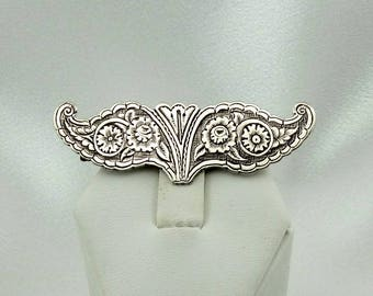 Intricate Engraved Collectable Antique Sterling Silver Brooch/Pin FREE SHIPPING!  #ENGRAVED-BR5