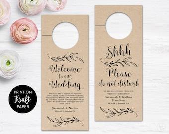 Marble wedding door hanger template please do not disturb wedding door hanger printable door hanger template please do not disturb sign rustic pronofoot35fo Gallery