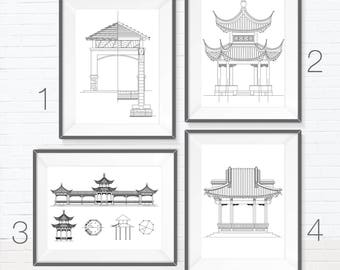 Traditional Asian Bungalow-Real Pen Architectural Drawings