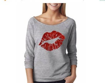 15% off this week valentines day shirt. v day women shirt. Lip shirt