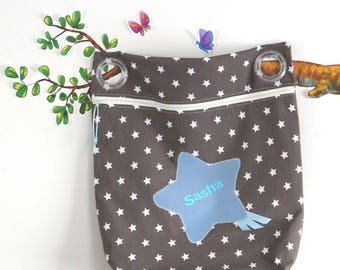 custom bag to stroller rod, 100% cotton