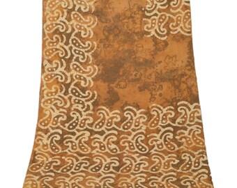 KK Dupatta Long Stole Cotton Brown Shawl Hijab Batik Wrap Scarves