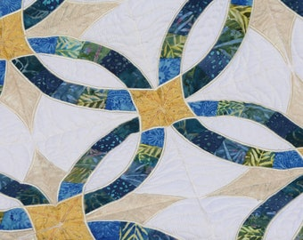 Wedding Ring Quilt (machine Embroidered) 70x74 in