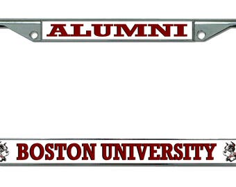 Boston University Alumni Chrome License Plate Frame