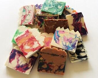 Soap Sampler - Soap Samples - Gift under 15 - Variety Pack - Soap Sampler Set - Grab Bag Soap - Soap Pack - Soap Sell - Homemade Soap - Sale