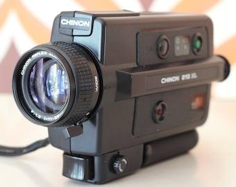 Chinon 213 XL Macro retro vintage super 8 kodak Agfa 8mm movie cine film camera 1980s