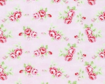 Rambling Rose Rosebuds in pink-by Tanya Whelan-ONE yard