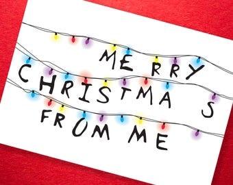 Stranger Christmas - Greetings Card