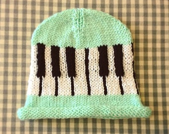 Piano Key Baby Hat