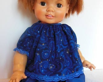 """Royal Blue Pants Set for 24"""" Ideal Baby Crissy Dolls"""