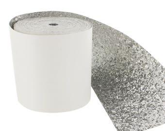 50cm width 10 cm glitter fabric