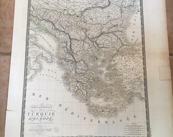ANTIQUE 1822 General Map of European Turkey