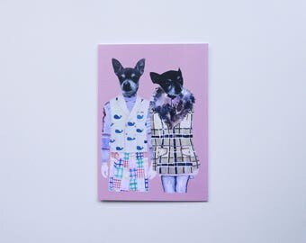 Chihuahas In Thom Browne and Marc Jacobs. Greeting Card, Notecard, Birthday, Thank you, Love, Holiday, Wedding, Shower, Graduation