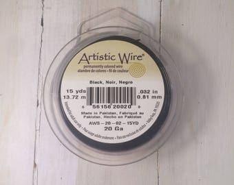 Artistic Wire - 20 gauge - Black - 15 yards