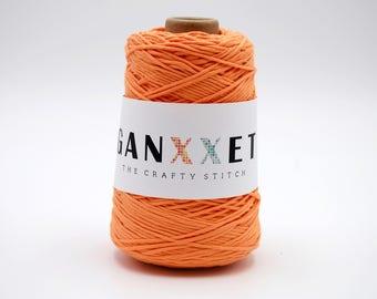 Ganxxet Cotton Cones - Orange; cotton string, macrame cord, macrame cotton cord