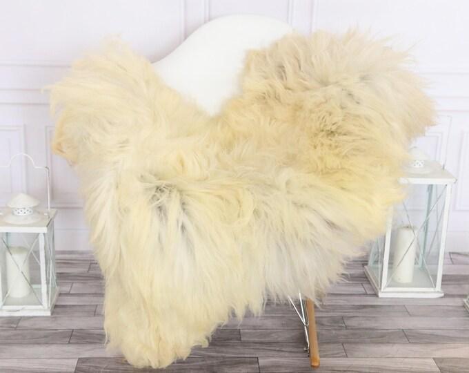 Sheepskin Rug | Real Sheepskin Rug | Shaggy Rug | Chair Cover | Sheepskin Throw | Ivory Sheepskin | #HERSEPT29