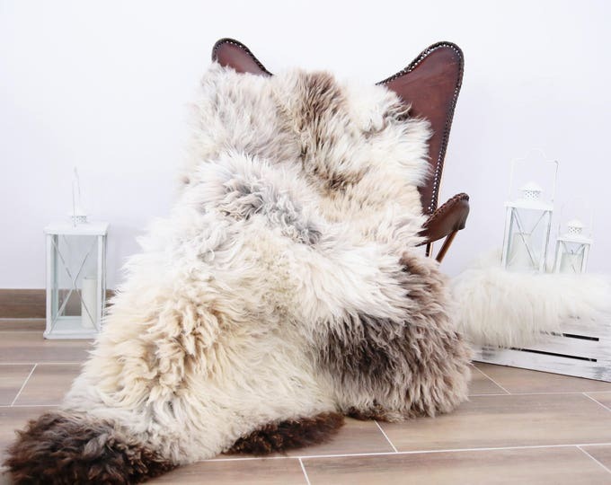 Triple Sheepskin Rug | Brown Sheepskin | Beige Sheepskin | Sheepskin Throw | Sheepskin Rug