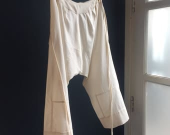 Women's Bloomers pantaloons drawers made with 100% natutal organic cotton Original French  1900s 1930s 1920s design, copied from original