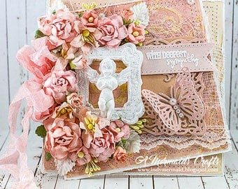 Shabby Chic With Deepest Sympathy Card