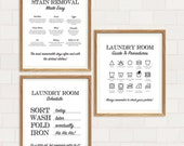 Black and White Laundry Prints - Minimalist Laundry Room Art - Laundry Room Prints