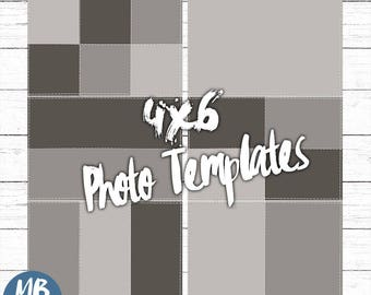 PHOTO TEMPLATES, stitched frames, photoshop, illustrator, photo templates,  storyboard template, editable collage, photography, psd, tif