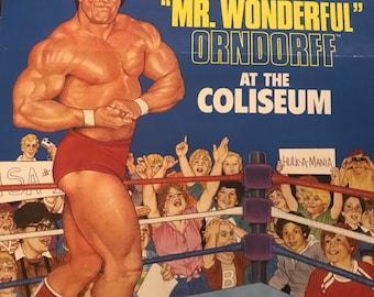 1985 WWF LJN Series 2 Mr. Wonderful Paul Orndorff Poster wwe