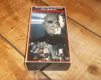 Hellraiser Pinhead VHS, Collector's Edition, Clive Barker, Horror Movie Video Halloween Party, 2 Tapes,  NON Rental