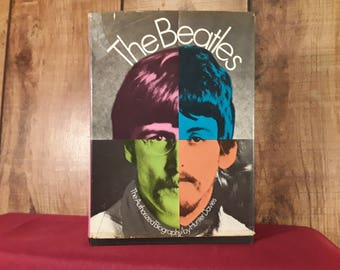 The Beatles Biography Hardcover Book With Dustjacket,1968 First Edition, Hunter Davies, John, Paul, Ringo, George, 32 Pages Of Photographs