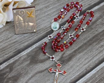 FAST SHIPPING!! Handcrafted Beautiful Confirmation Rosary, Confirmation Rosary, Rosary Gift, Confirmation Gift, Confirmation Day