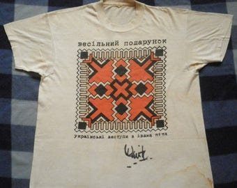 ON SALE 26% Vintage The Wedding Present 80s Ukrainski tour rare Signature T shirt