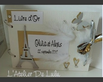 "For chic ""paris"" Wedding guest book"