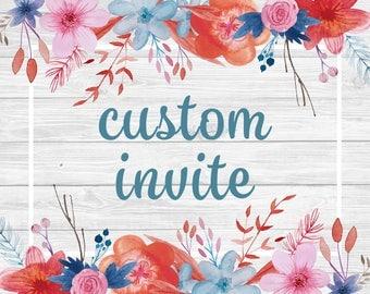 Custom Invitation - Basic