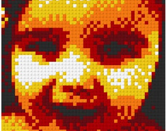 "Your picture in a 15""x15"" Lego Mosaic"