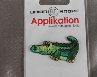applique, animal, crocodile, green, bonding, iron or sew