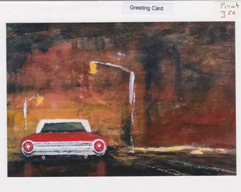 64 Ford : 5x7 greeting card