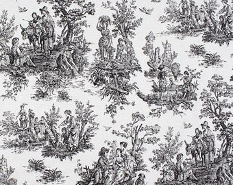Toile shower curtain   Etsy