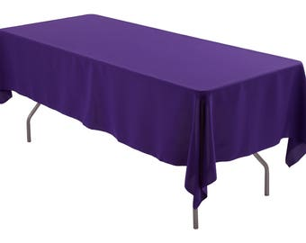 Perfect 60 X 102 Inch Rectangle Purple Tablecloth Polyester | Wedding Tablecloth