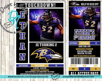Baltimore Ravens Football Invitation
